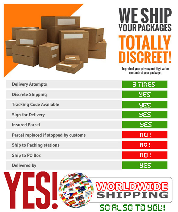 world wide discreet shipping